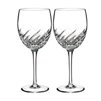 Waterford Essentially Dungarvan Wave Goblets Set Of 2