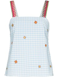 Mira Mikati Embroidered Gingham Top 60
