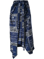 Chalayan Folded Skirt Blue
