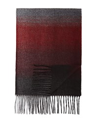 Bloomingdale's The Men's Store At Ombre Scarf Burgundy Grey
