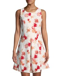 Dex Sleeveless Floral Fit And Flare Dress Multi