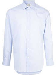 Kent And Curwen Long Sleeve Fitted Shirt Purple