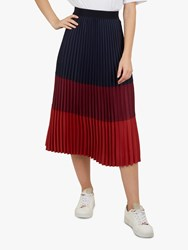 Ted Baker Zahava Colour Block Midi Skirt Navy Red