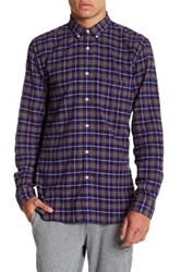 Barney Cools Cabin Plaid Long Sleeve Trim Fit Shirt Gray