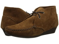 Minnetonka Chukka Wedge Bootie Dusty Brown Suede Women's Shoes