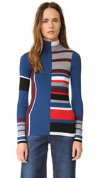 Kenzo Ribbed Colorblock Sweater Burgundy