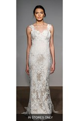 Anna Maier Couture Women's Ashley Sleeveless Silk And French Lace Gown