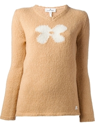 Courreges V Neck Sweater Nude And Neutrals
