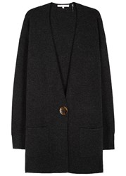 Helmut Lang Wool And Cashmere Blend Cardigan Charcoal