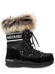 Moon Boot Low Monaco Nylon And Faux Leather Boots Black