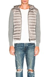 Moncler Maglione Tricot Cardigan In Gray