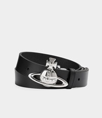 Vivienne Westwood Orb Buckle Palladio Belt Black