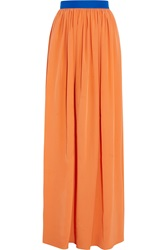 Roksanda Ilincic Riven Silk Blend Maxi Skirt