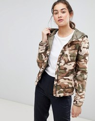 Pull And Bear Pullandbear Camo Printed Windbreaker In Multi