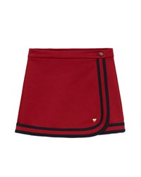 Gucci Double Faced Web Trim A Line Skirt Size 4 12 Girl's Size 12 Red