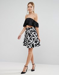 Coast Wren Mono Skirt Mono Black