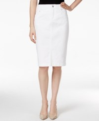 Charter Club Petite White Wash Denim Skirt Only At Macy's