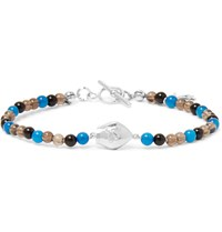 Isaia San Gennaro Bead And Silver Bracelet Black