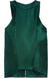 Atlein Draped Jersey Top Emerald