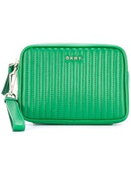 Dkny Quilted Clutch Green