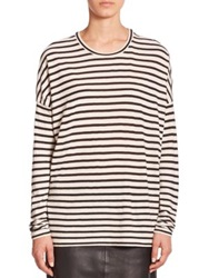 Set Striped Long Sleeve Tee White Black