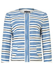 Gerry Weber Stripe Blazer Blue White