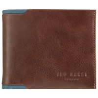 Ted Baker Sidd Contrast Leather Bifold Wallet Tan