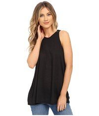 Rvca Label High Neck Tunic Tank Top Black Women's Sleeveless