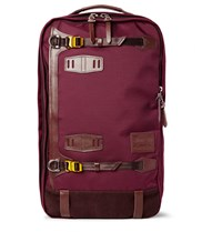 Master Piece Potential Leather And Suede Trimmed Canvas Backpack Burgundy