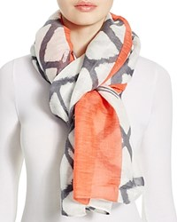 Aqua Graphic Pop Pareo Scarf Coral