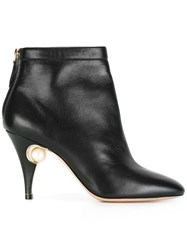 Nicholas Kirkwood 85Mm 'Penelope' Pearl Ankle Boots Women Calf Leather Nappa Leather Kid Leather 40.5 Black