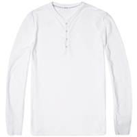 Schiesser Karl Heinz Long Sleeve Henley White