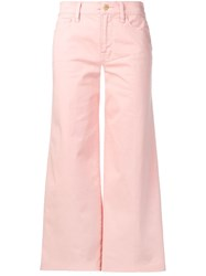 Frame Cropped Trousers Pink