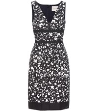 Carolina Herrera Printed Cotton Dress Black