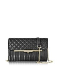 Roccobarocco Utopia Black Quilted Eco Leather Crossbody Bag
