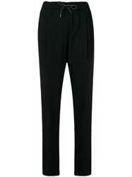 Fabiana Filippi Drawstring Waist Trousers Black