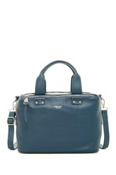 Perlina Ellen Leather Satchel Blue