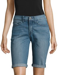 Nydj Petite Five Pocket Denim Shorts Jet Stream