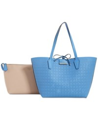 Guess Bobbi Inside Out Tote Blueberry Nude