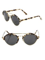 Illesteva Milan Ii 54Mm Oversized Aviator Sunglasses White Tortoise