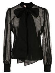 Brock Collection Sheer Tie Fastening Blouse 60