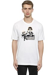 Dolce And Gabbana Designers Patch Cotton Jersey T Shirt
