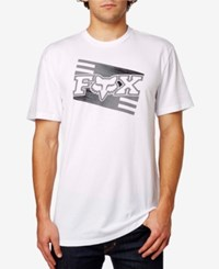 Fox Men's Graphic Print T Shirt Opt White