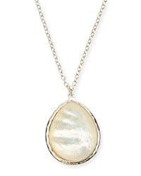 Sterling Silver Teardrop Pendant Necklace Mother Of Pearl Ippolita
