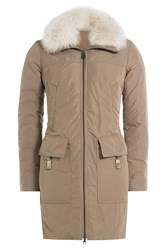 Peuterey Down Coat With Fur Trimmed Hood Gr. It 38