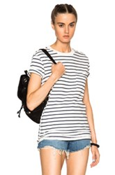 Nsf Lucy Tee In Stripes White
