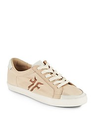 Frye Dylan Low Top Leather Sneakers Cement