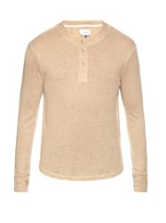 Solid And Striped The Henley Long Sleeved T Shirt Cream