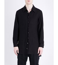 Ann Demeulemeester Relaxed Fit Hemp Shirt Brushed Black