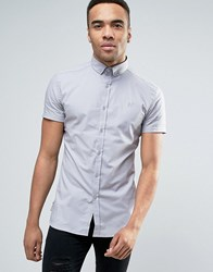 11 Degrees Skinny Fit Shirt In Grey
